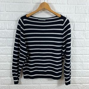 Vince. Striped Navy White Sweater XS